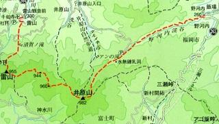 ゆっくり登ろう会 第84回例会 三瀬峠~井原山 983m 登山  12月8日(日)