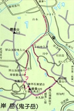 ゆっくり登ろう会 第87回例会 岸岳(320m)登山 3月23日(日)