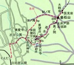 ゆっくり登ろう会  第90回例会 岩石山(446m) 登山  6月7日(土)