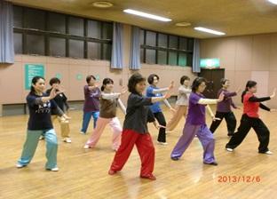 太極拳・福岡支部 中央体育館教室水曜夜