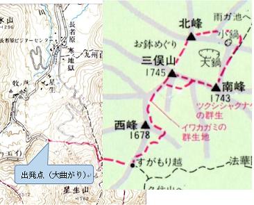 ゆっくり登ろう会 第114回例会 三俣山・三俣山南峰 登山  6月5日(日)